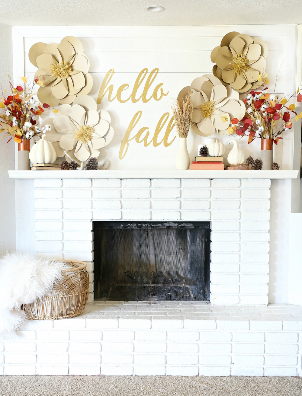 Diy Fall Mantle Decor Classy Clutter