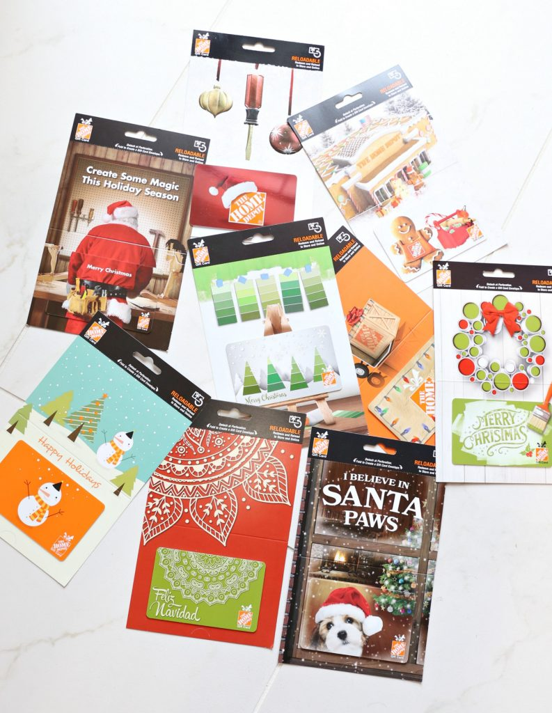 unique gift card gift idea with the home depot - classy clutter