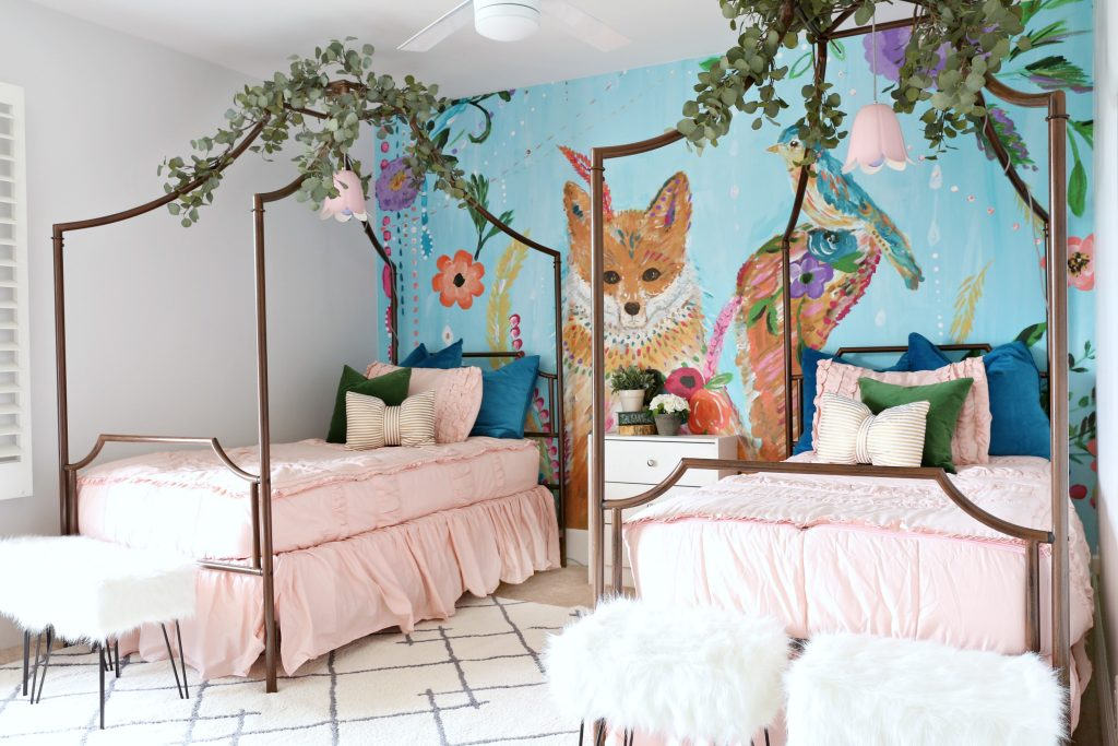 The Next Piece That I Picked Out For Girls Room Was Their Canopy Beds Found Kids On Overstock Knew Wanted To Be