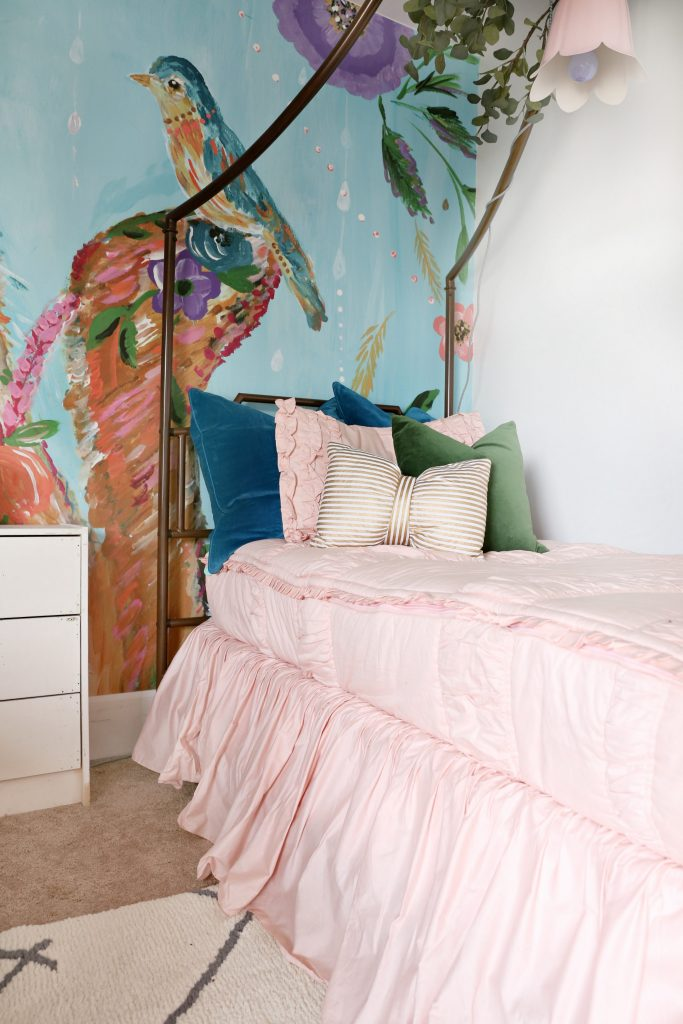 Popular The next piece that I picked out for the girls room was their canopy beds I found the beds on Overstock I knew that I wanted their beds to be stunning I