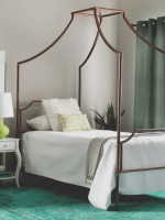 Brushed Copper Canopy Bed