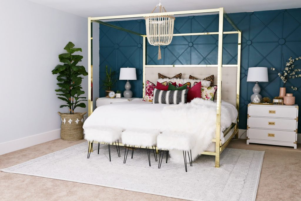 Master Bedroom Makeover With Awesome Accent Wall Classy Clutter