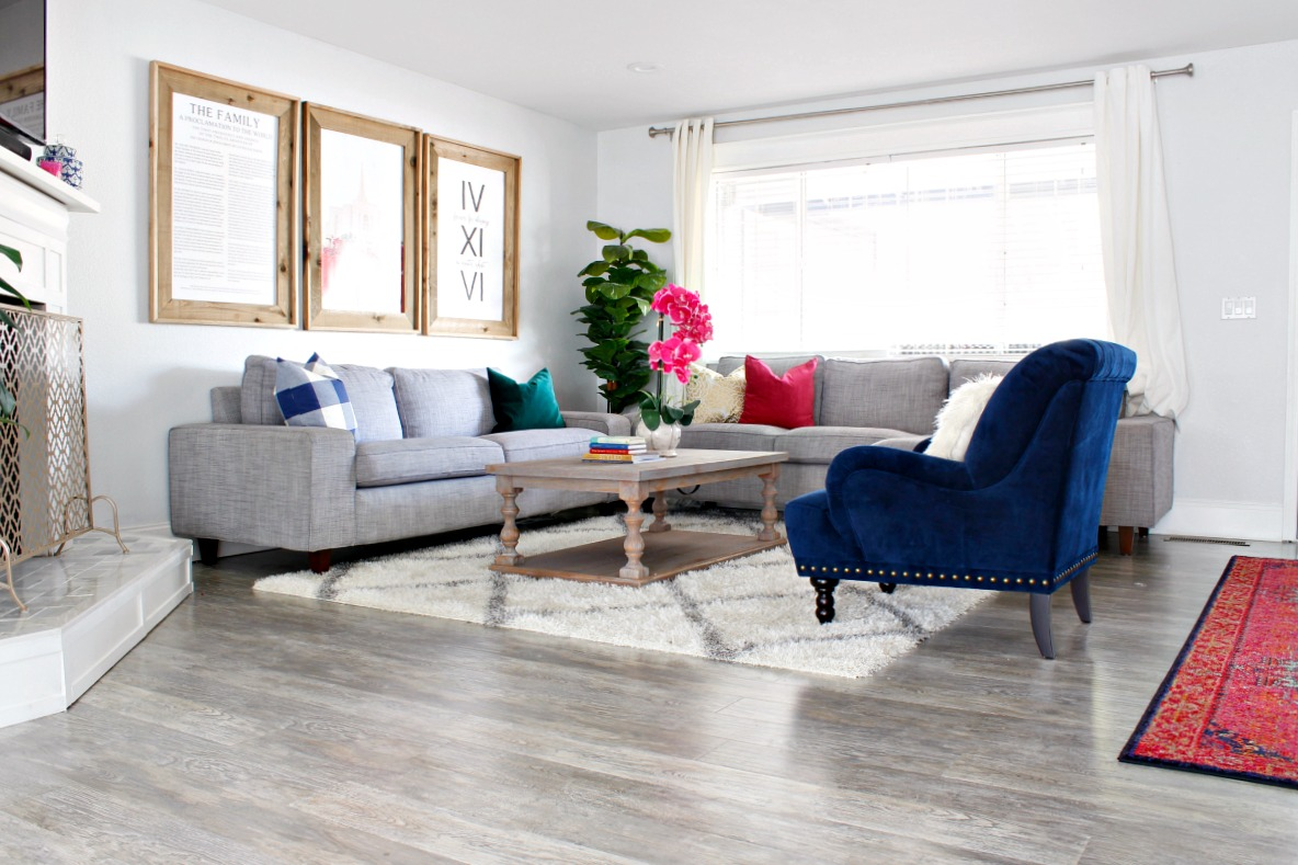 Im Back Today To Share Our Living Room Makeover With You Yesterday I Shared Fireplace Remodel And Since Its Directly Connected The