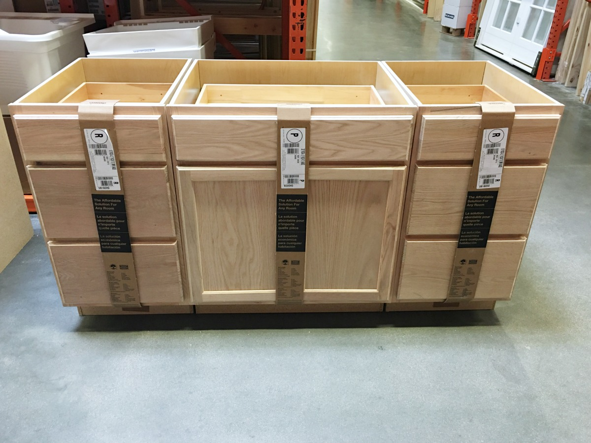 Uncategorized Diy Kitchen Island prescott view home reno diy kitchen island classy clutter i got these three boxes and arranged them in the aisle it was literally perfect size wanted a lot of drawers were
