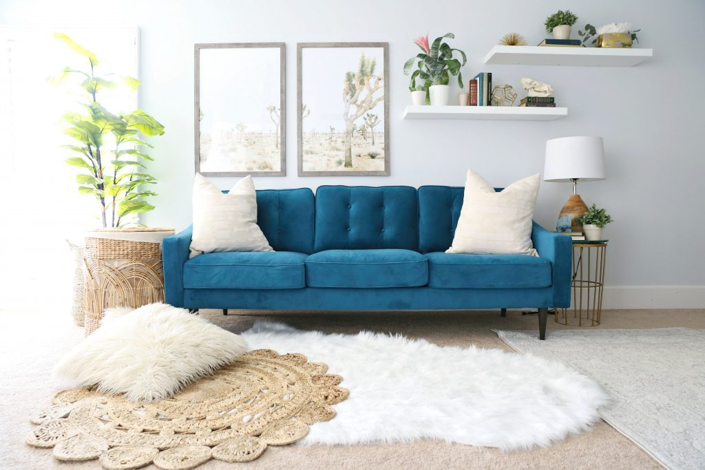 In The Bedroom Or The Couch.Modern Ranch Reno Master Bedroom Sofa Classy Clutter
