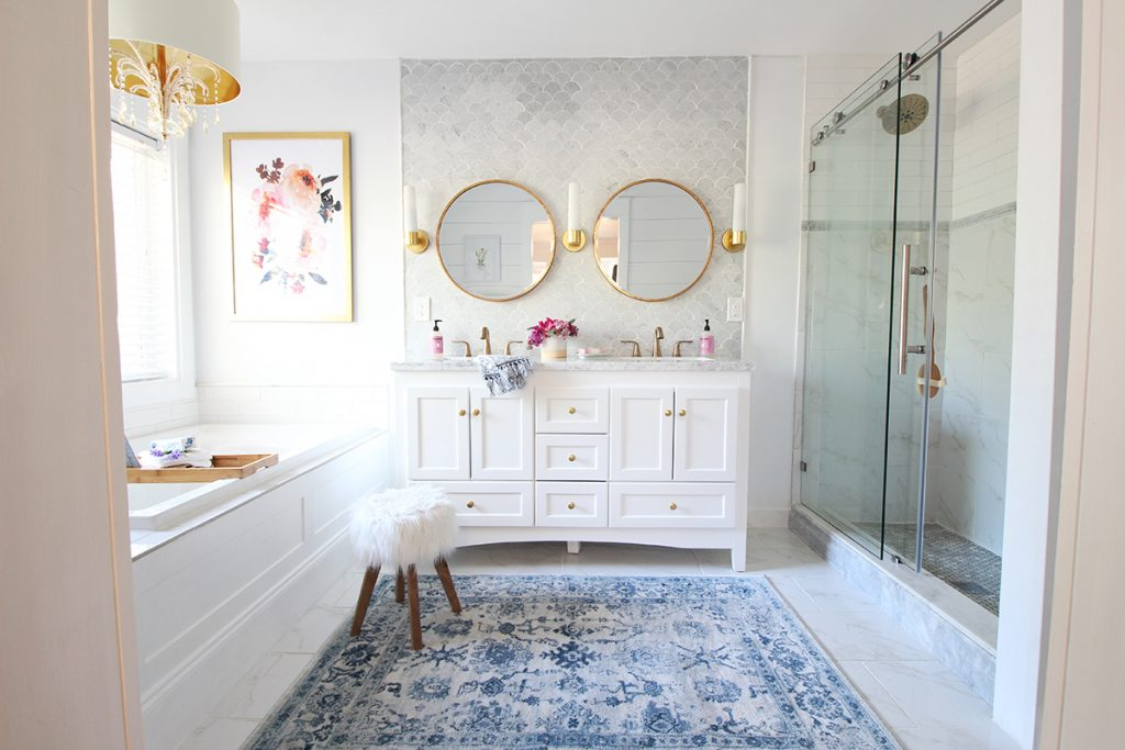 Trend I am so excited to finally be sharing more info about my recent bathroom makeover It was my biggest undertaking to date but I am so thrilled with the turn