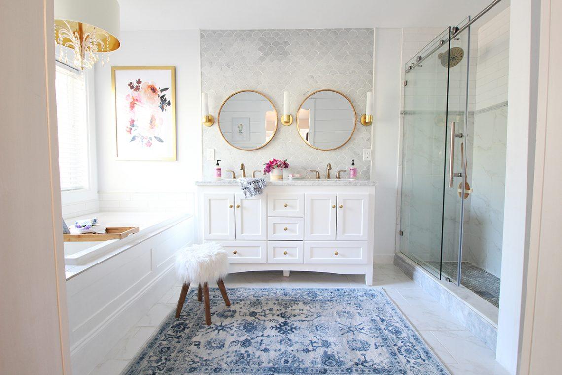 Prescott view home reno master bathroom reveal classy for Floor decor reno