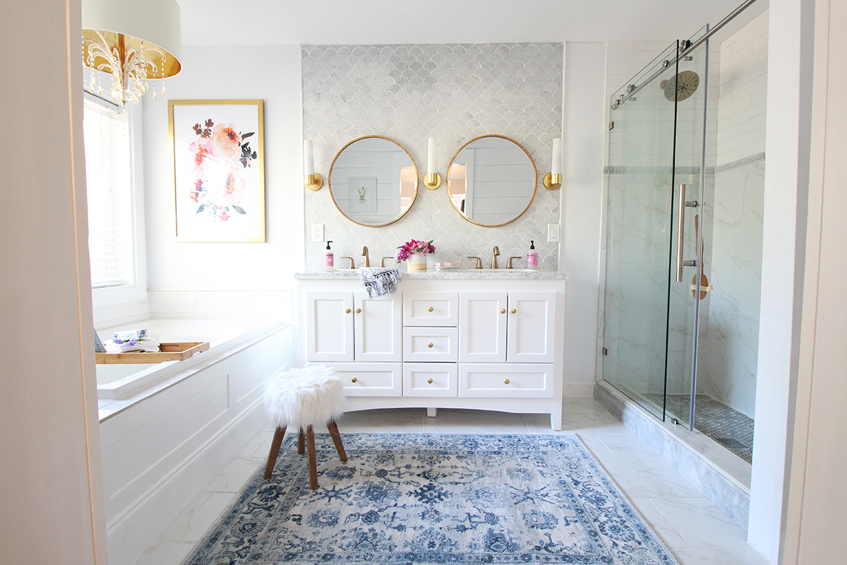 Epic Friends I am so beyond excited and elated to finally reveal my master bathroom renovation with you For the last roughly two months I have put every
