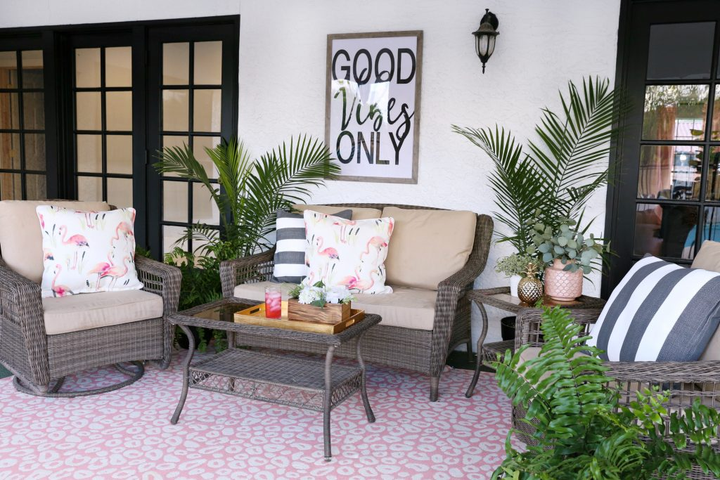 I Have Been So Impressed With All The Décor That I Got From Annie Selke.  Everything Has Come Together So Nicely Out On The Back Patio And Now I Love  Being ...