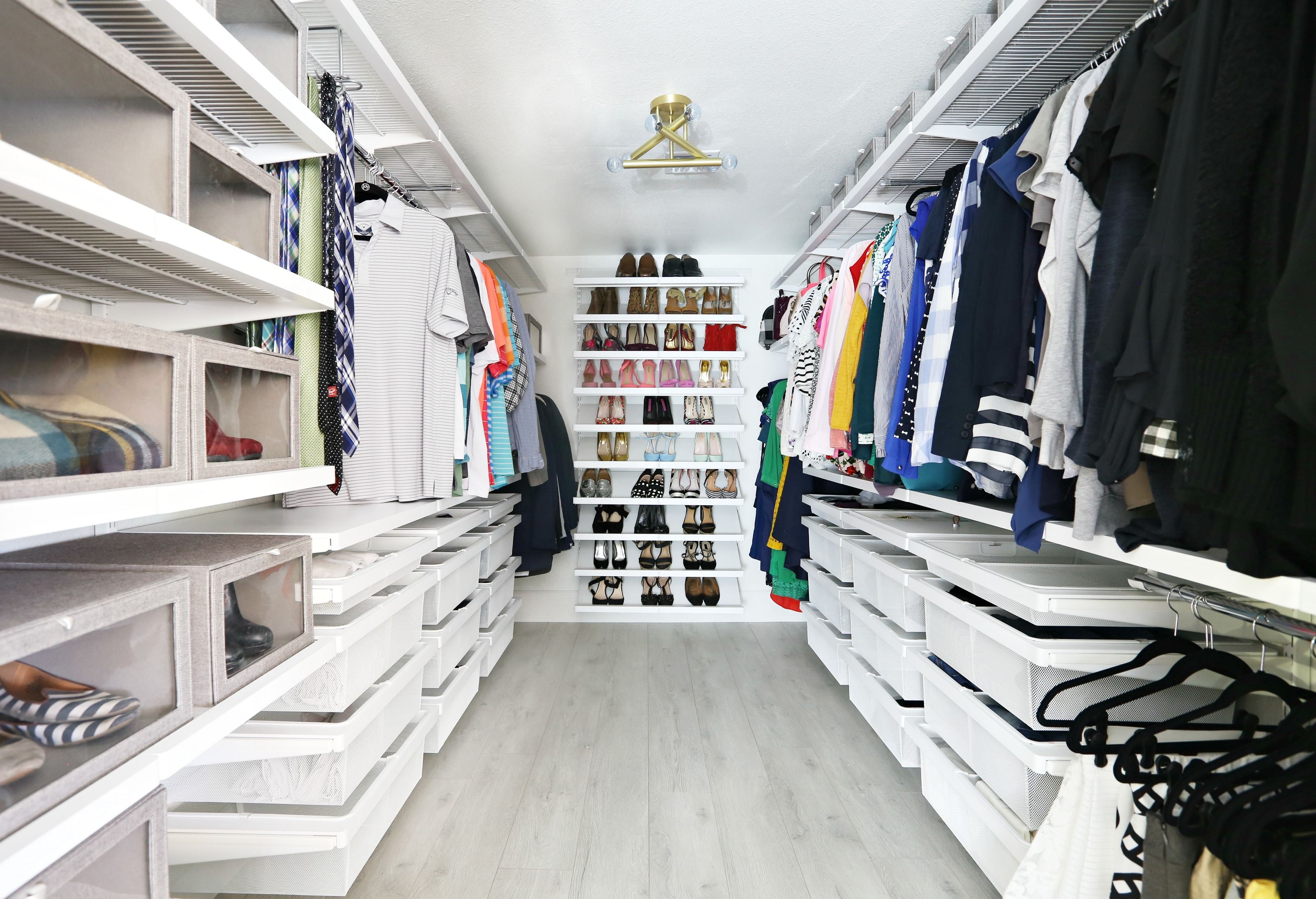Our Closet Makeovers With The Container Store And Hgtv