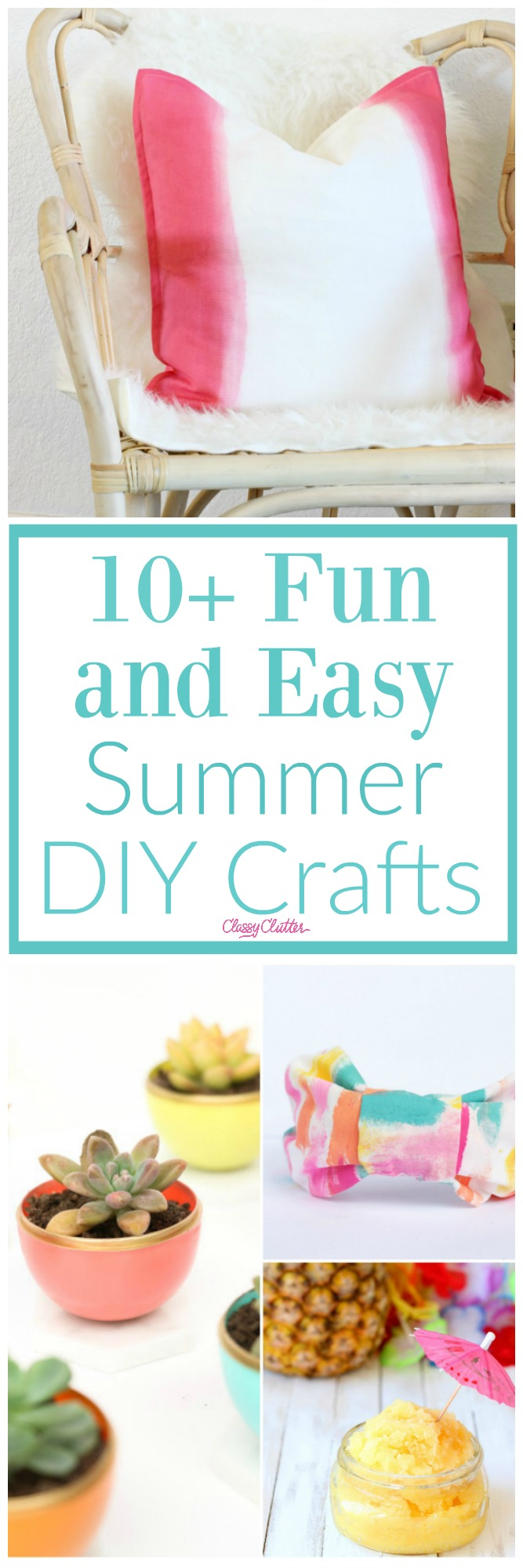10 Fun And Easy Summer Diy Crafts Classy Clutter