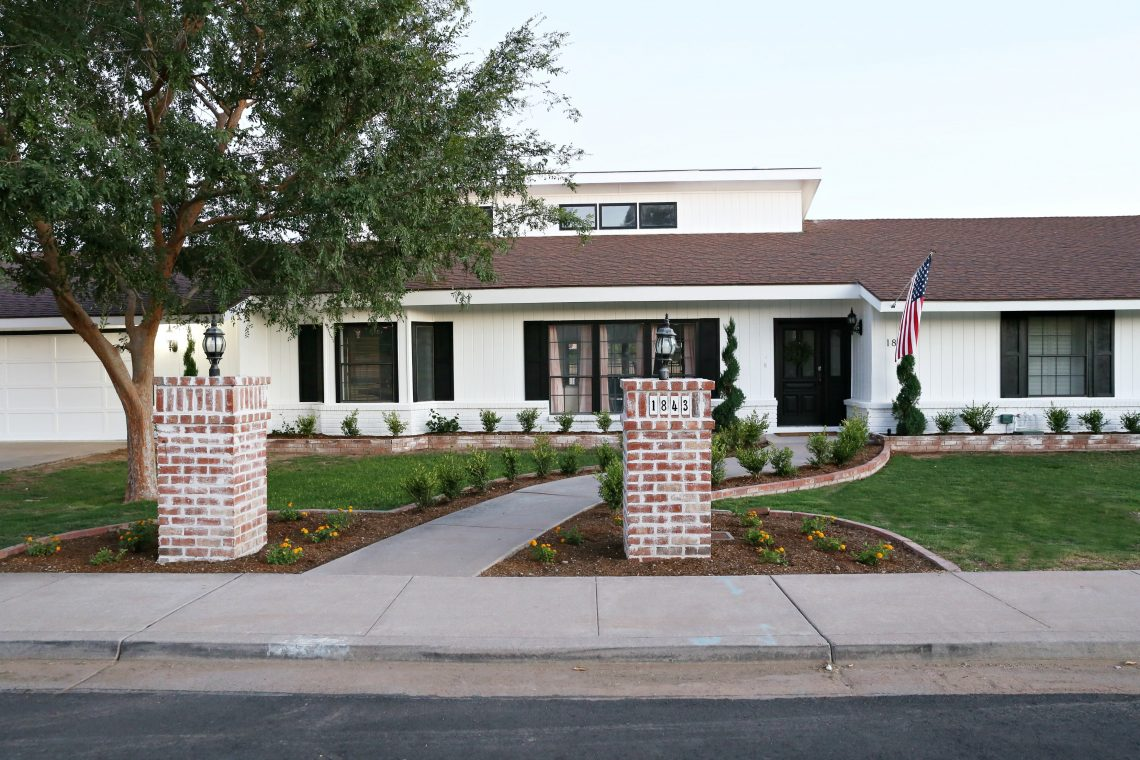 Modern Ranch Reno Our Black And White Exterior Paint: black and white homes
