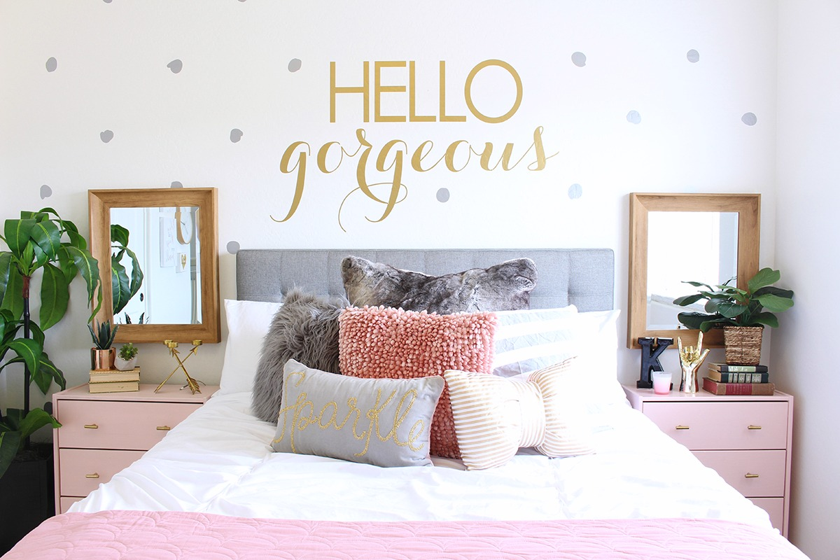 Surprise Teen Girl's Bedroom Makeover - Classy Clutter on Room Decor For Teens  id=60757
