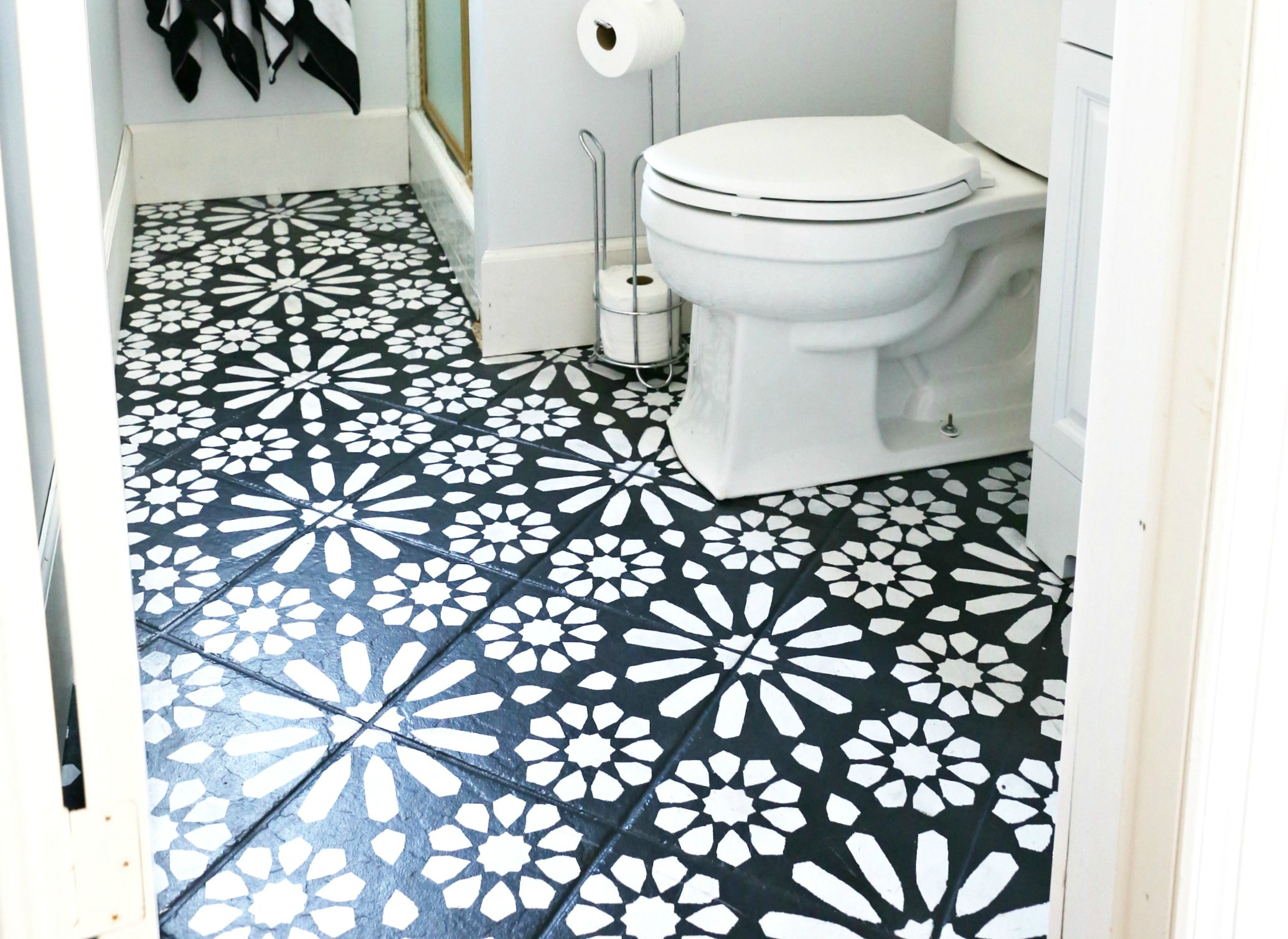 Modern Ranch Reno Half Bathroom Flooring Done Cheap and Easy Our