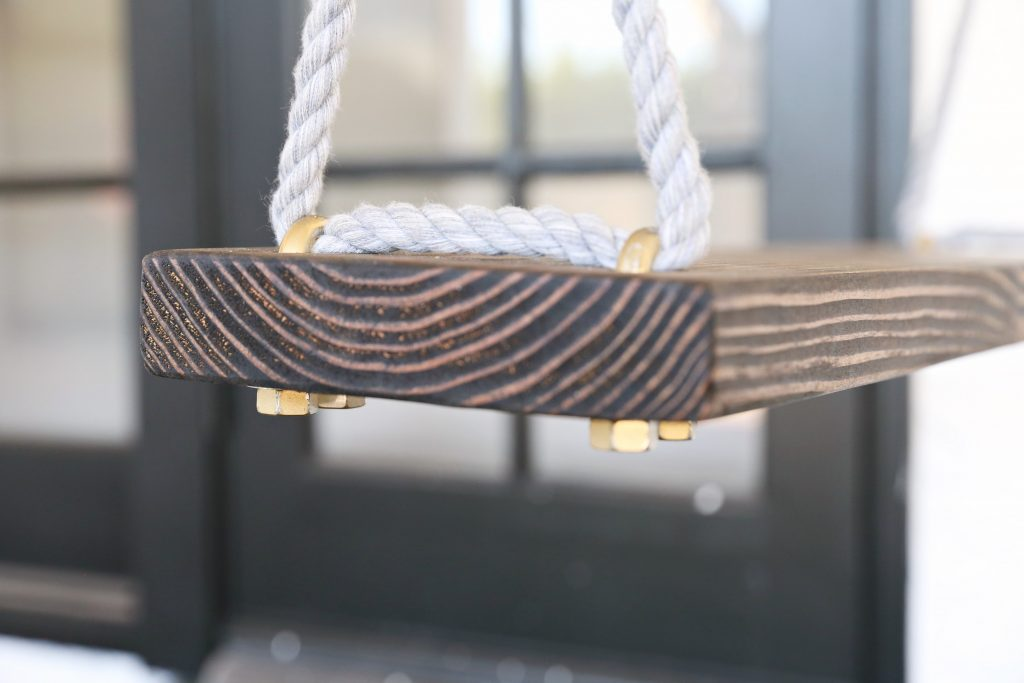 DIY Outdoor Swings- They are cheap and easy to do and is a one day project. What kid or Adult would not love these DIY Outdoor Swings Classyclutter.net