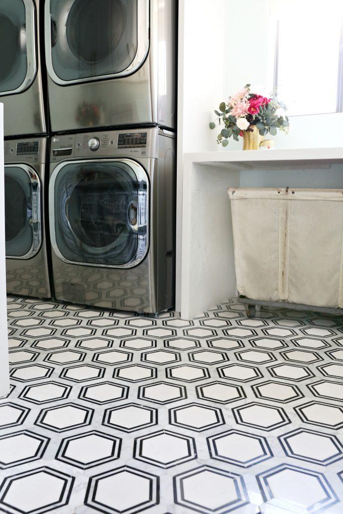 modern laundry room flooring | Modern Ranch Reno: Laundry Room Reno Part 3 Flooring ...