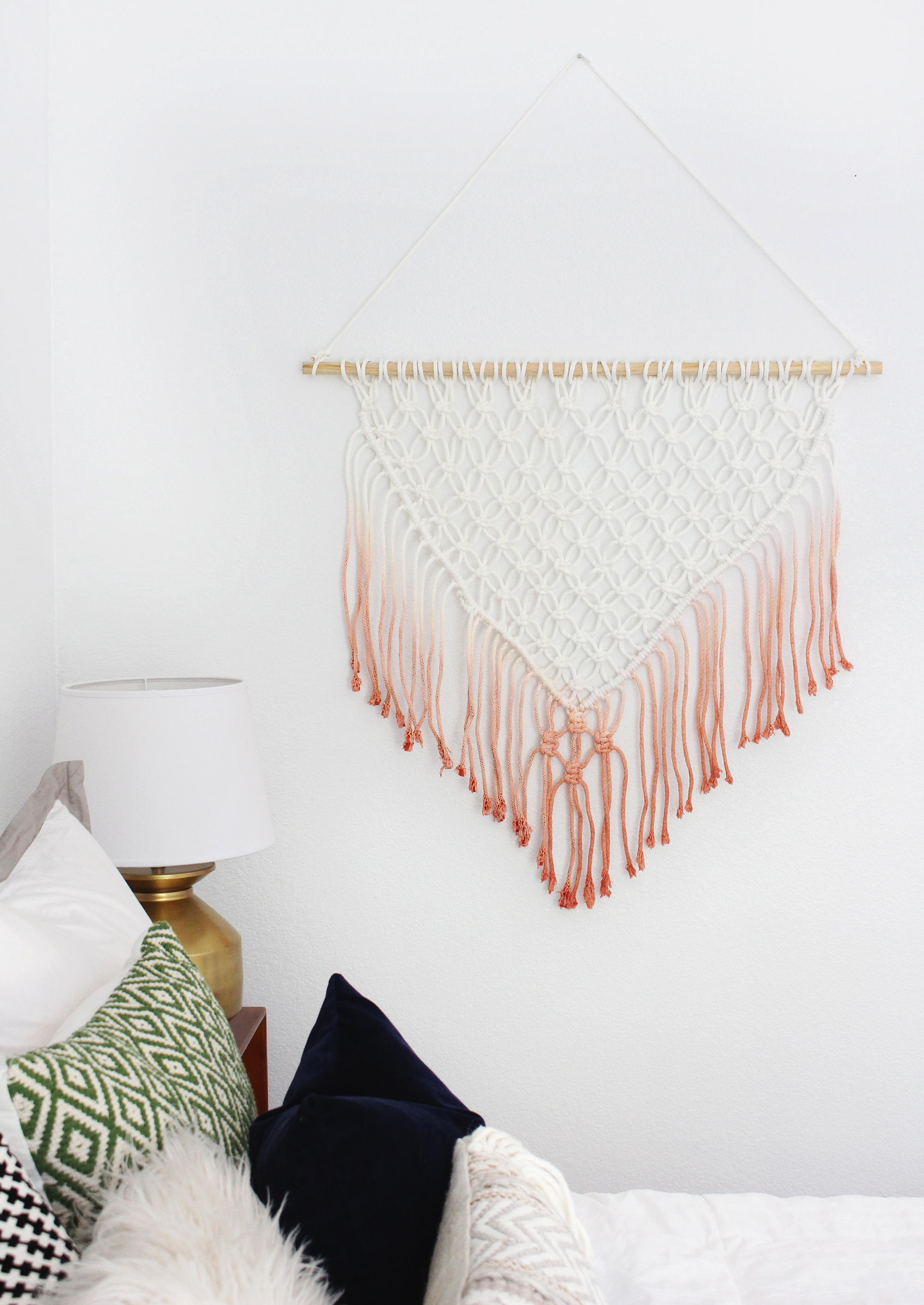 Hack The Easiest Diy Macrame Wall Hanging Tutorial Classy Clutter