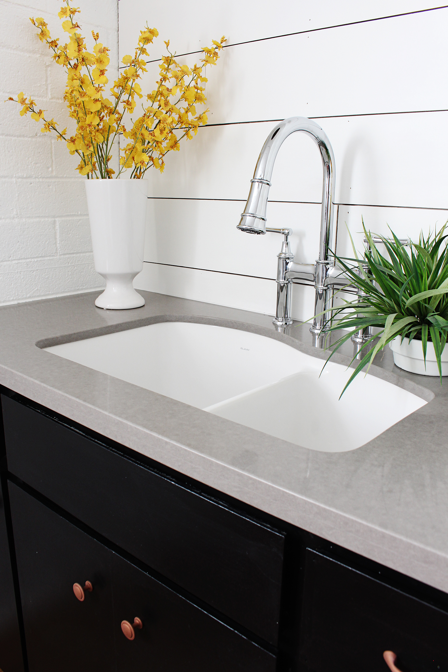 ... Farmhouse Sinks If Thatu0027s More Your Jam! They Have So Many Amazing  Options. We Also Chose The Elkay Explore Three Hole Bridge Faucet In Chrome  Which Is ...