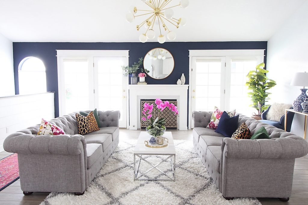 living room makeover. I built the mantel using same method as did in my old house  You can get that tutorial here DIY Fireplace Mantel ve linked all of sources for Park Home Reno Living Room Makeover Classy Clutter