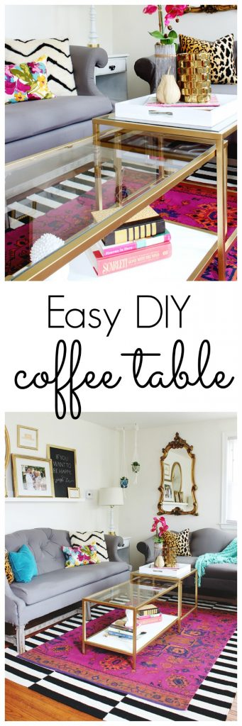 Easy DIY Coffee Table - Ikea Hack