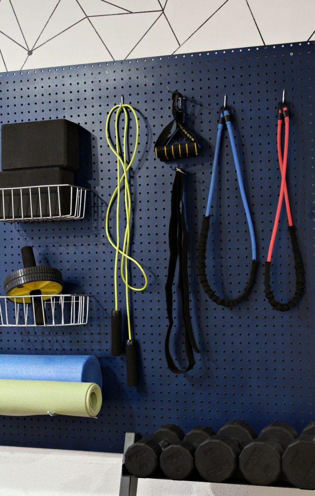 Easy Diy Project Home Gym Organizer Using A Pegboard