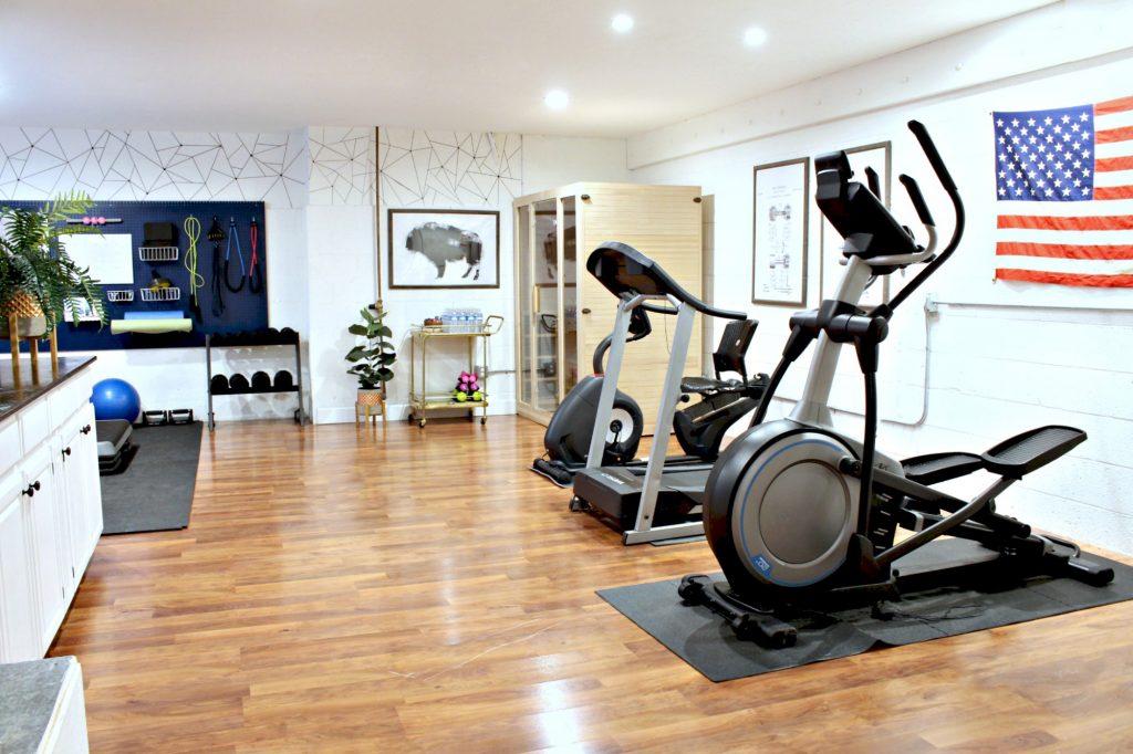 organized home gym