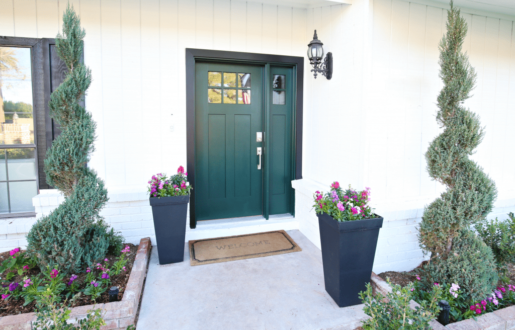 Loving how the new front door and new hardware looks together. I also love how convenient this new door hardware is and I would highly recommend this ... & Modern Ranch Reno: New Front Door and Hardware - Classy Clutter