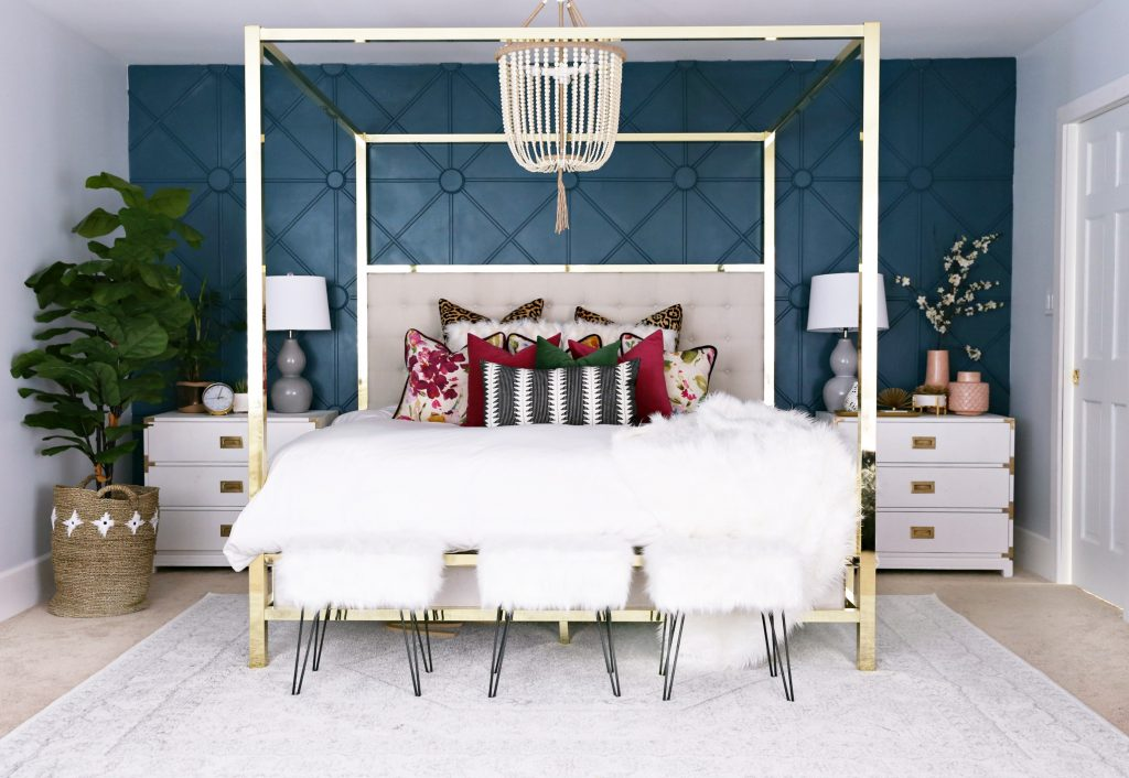 Modern Ranch Reno Master Bedroom Sources Classy Clutter