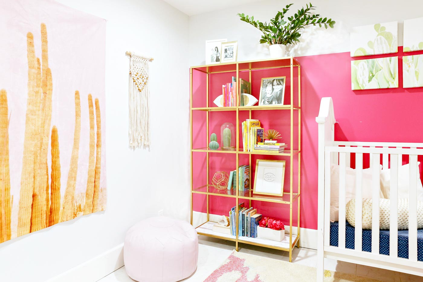 Girls nursery bookshelf