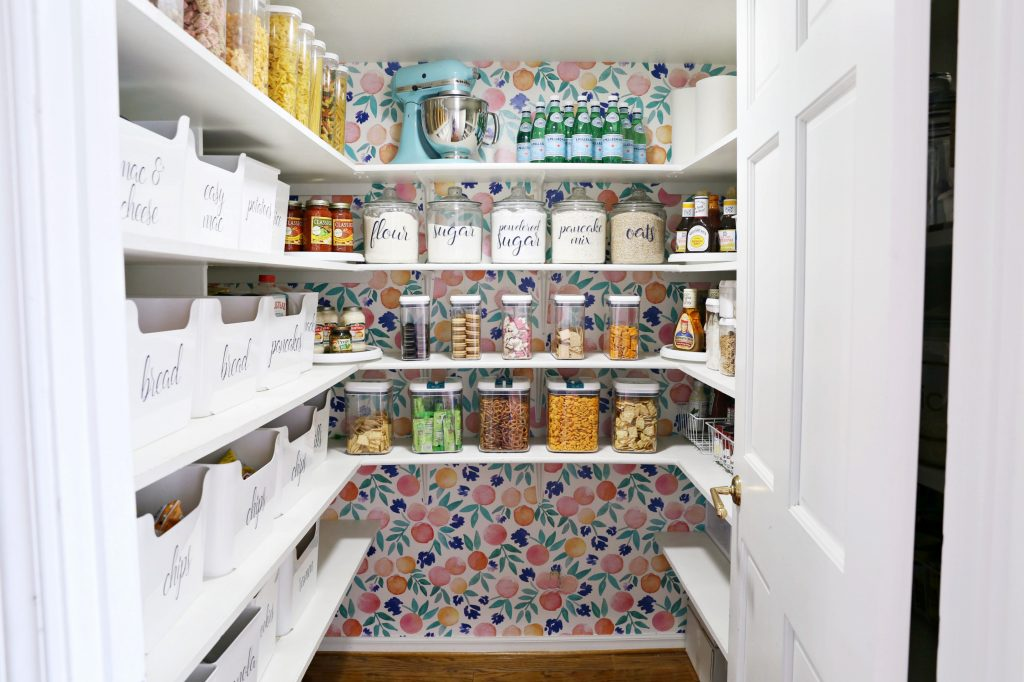The inside of a pantry