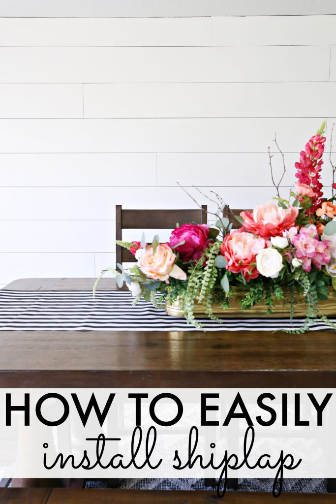 How to shiplap a wall the easy way! - www.classyclutter.net