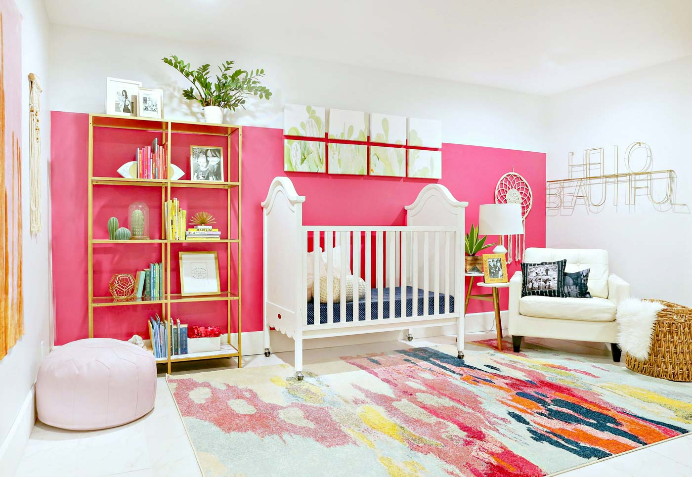 Modern Ranch Reno: Colorful Baby Girl Nursery - Classy Clutter