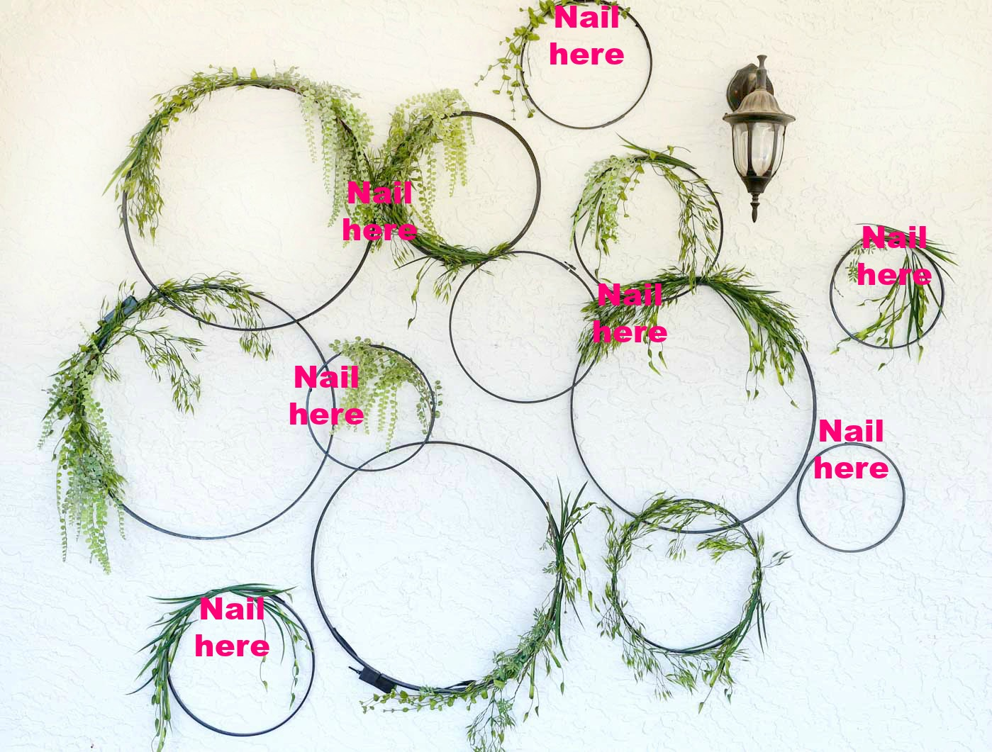 Diy Wall Decor Hoops how to hang