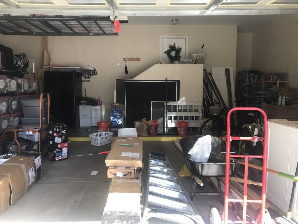 DIY Garage Makeover - Before