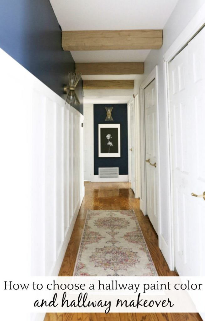 How to choose a paint color and hallway makeover with @BEHRPaint #BEHRPaint #ad - https://www.classyclutter.net/hallway-paint-color/