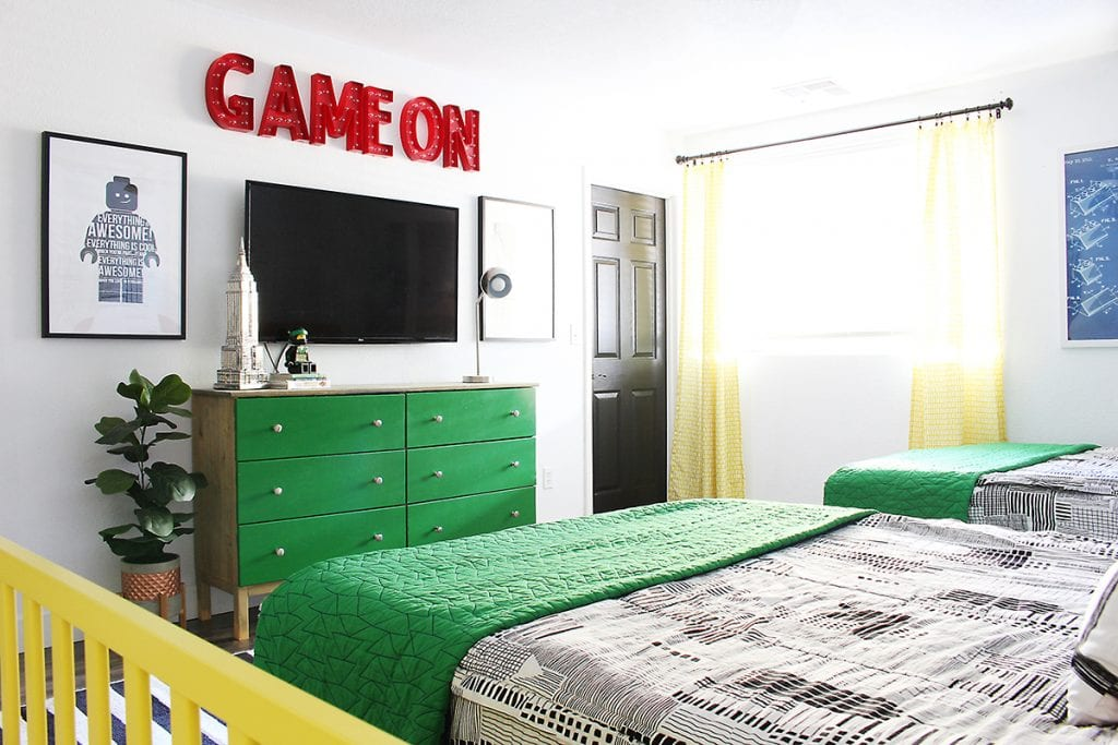Shared Boys Room - Lego Room