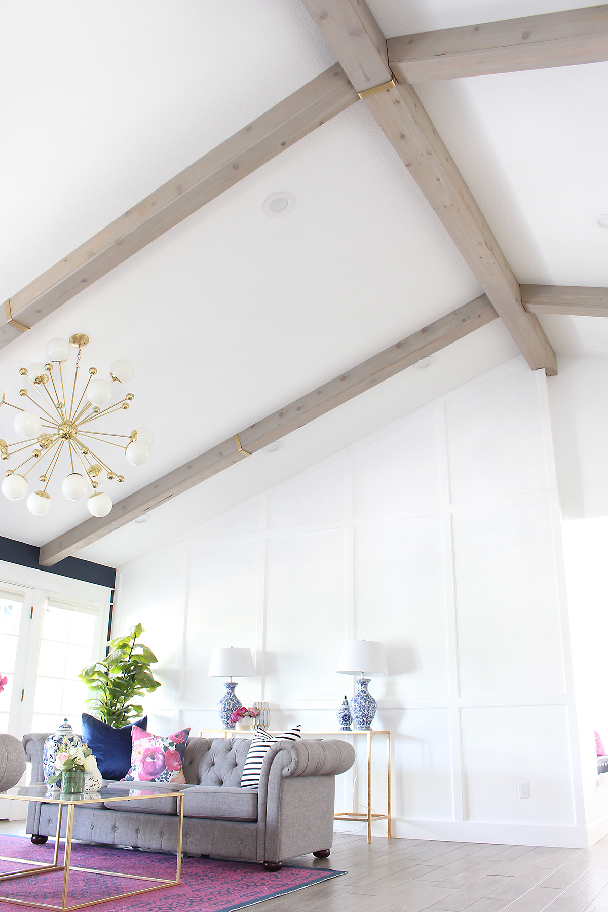 How to make Faux Wood Beams - beautiful!