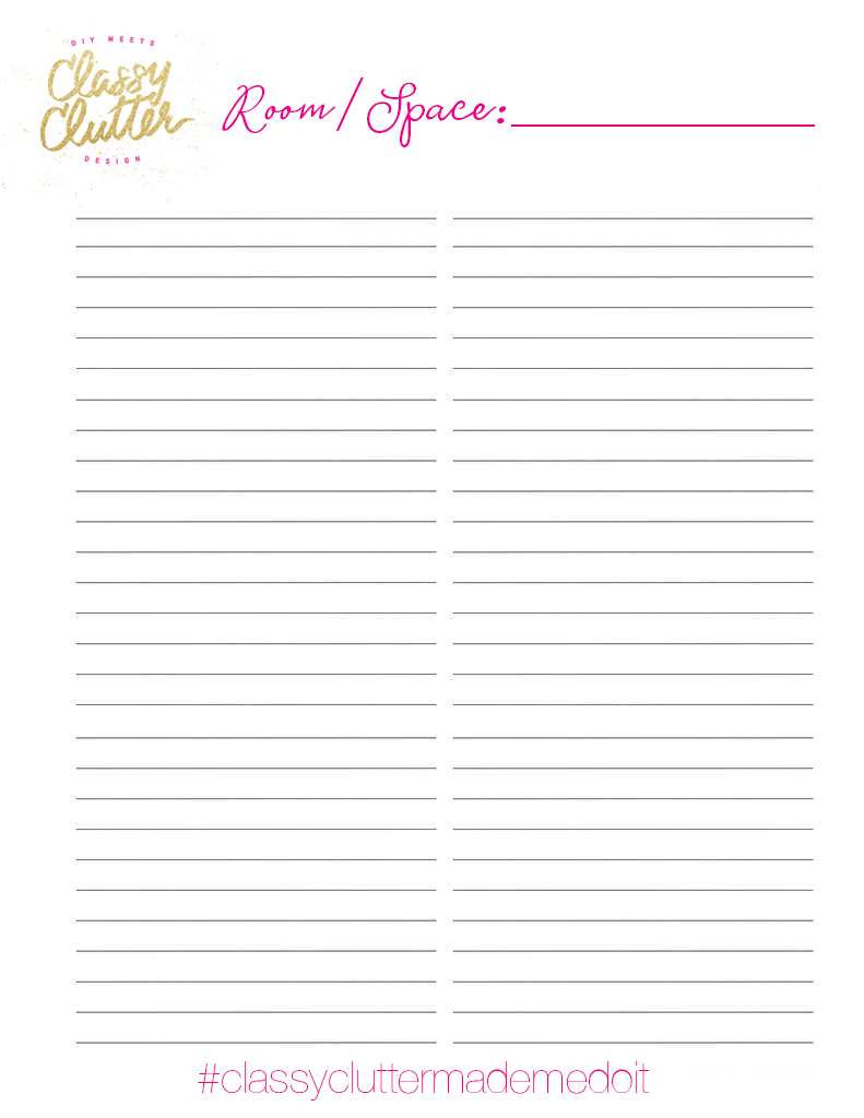 home printable to do list - classy clutter