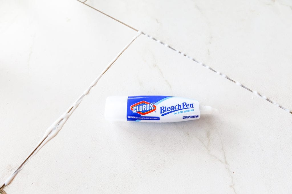 Using bleach to clean grout