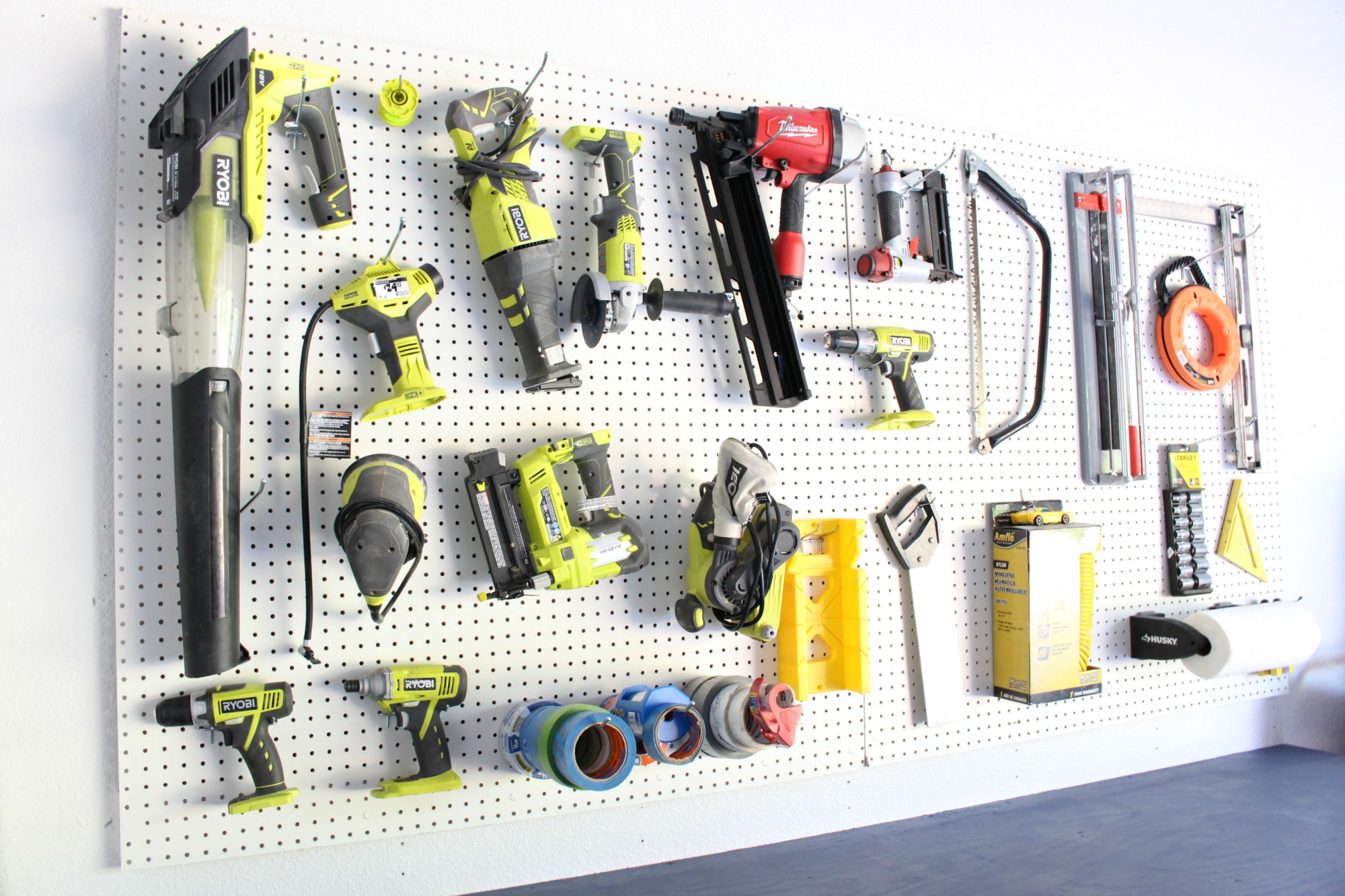DIY Garage Makeover - Peg Board