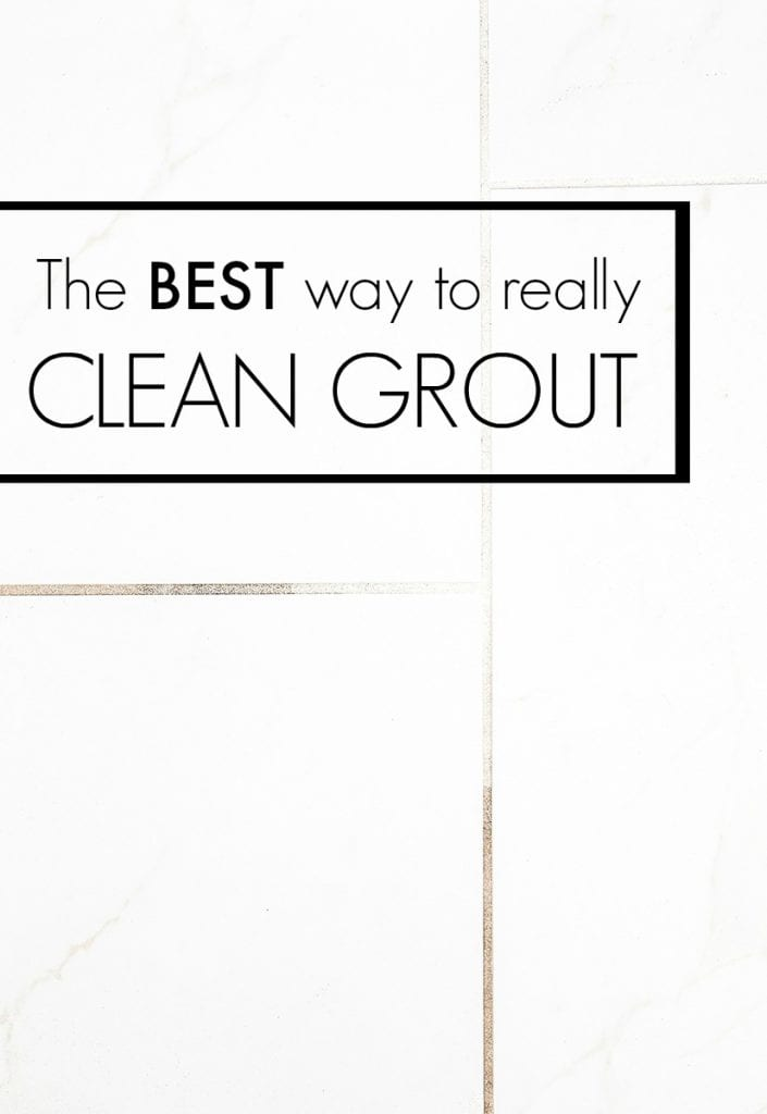 The easiest and BEST way to clean grout!