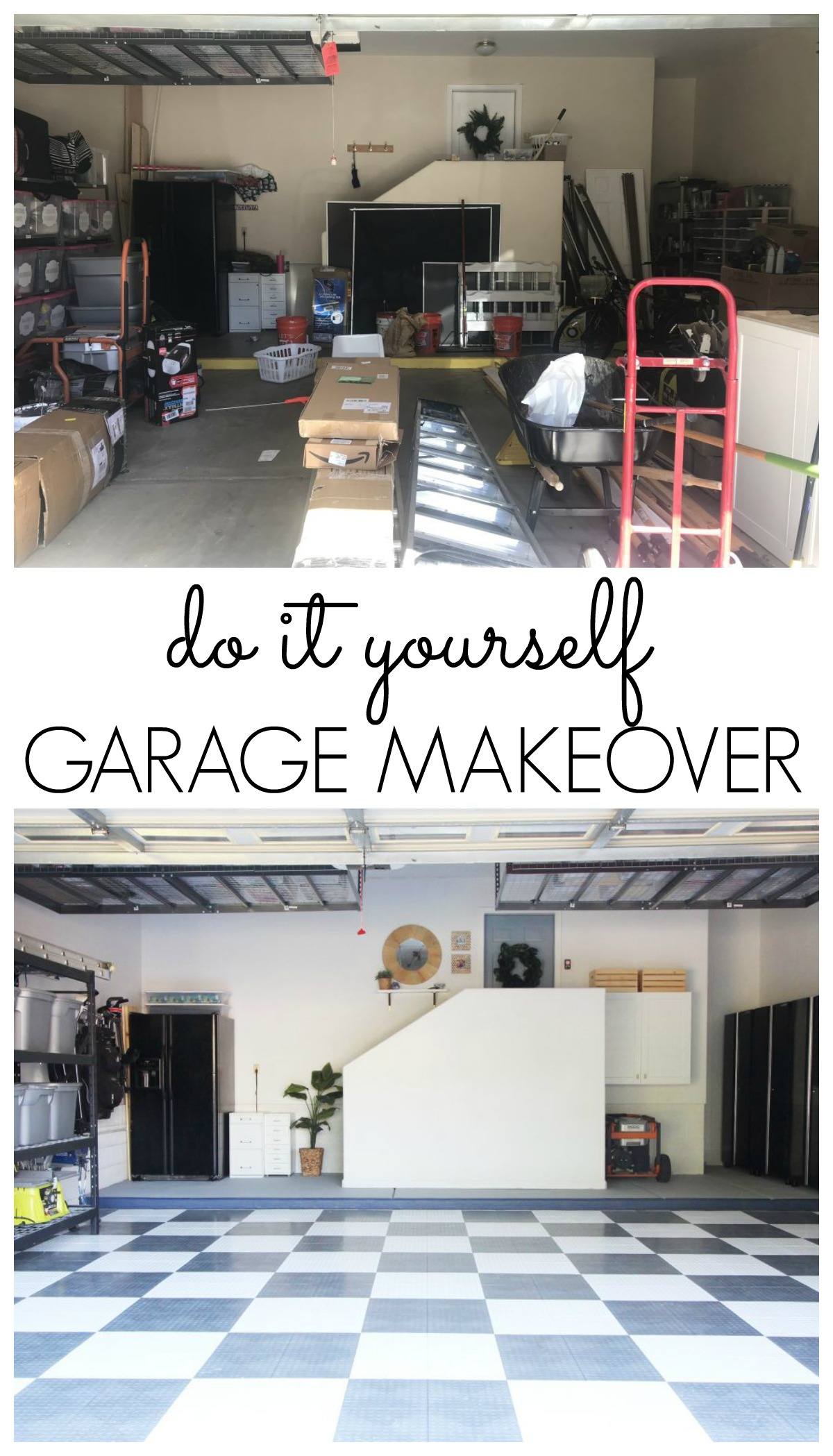 do it yourself garage makeover