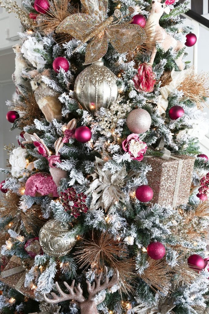 Pink Accent Christmas Tree