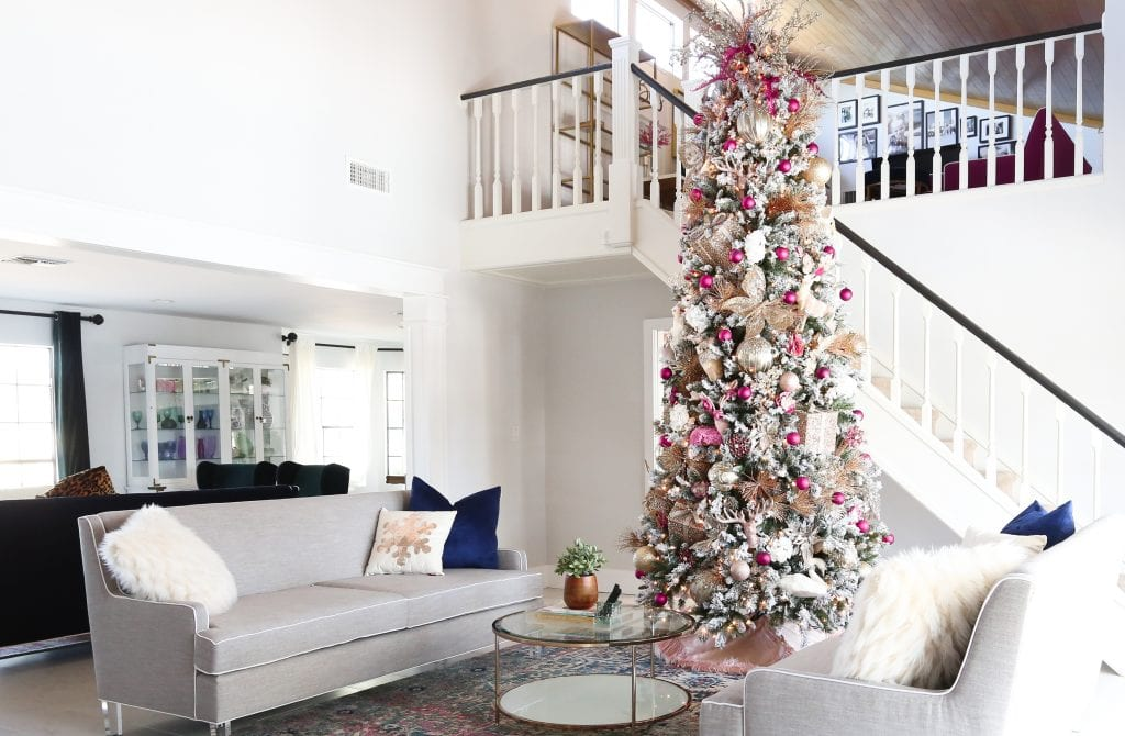 Pink DIY Christmas Tree