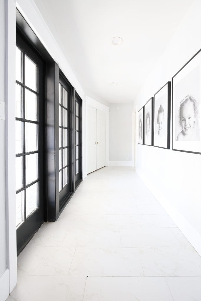 Simple and clean gallery wall