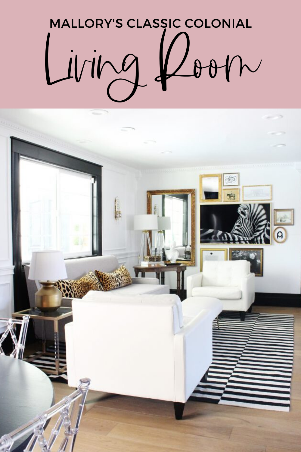 Mallory's Classic Colonial: Living Room Reveal